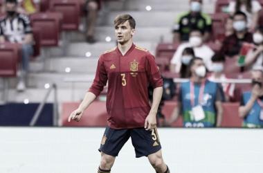 Diego Llorente en el duelo ante Portugal. // Imagen: Cadena Ser, Getty Images