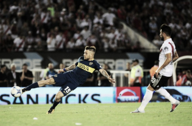 El uruguayo debutó en un Superclásico con un gol | Foto: Planeta Boca Juniors