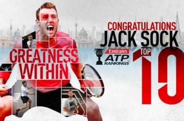 ATP - La classifica: Sock nei primi dieci, calano Djokovic e Murray