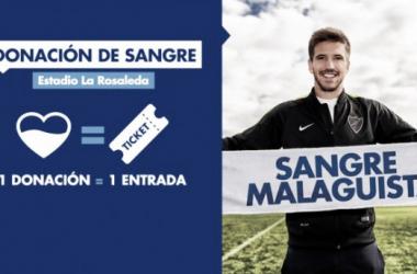 Campaña de donación de sangre del Málaga CF