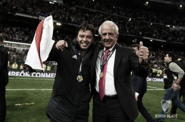 D´Onofrio junto a Gallardo: de 2014 a 2018, ganaron nueve títulos, seis de ellos internacionales (Foto: CARP Oficia).