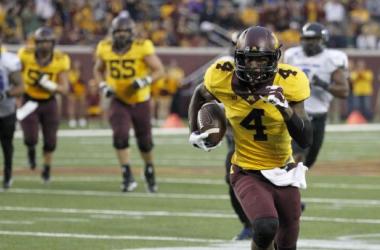 Donovahn Jones was tied as the leading receiver for Minnesota (Associated Press)