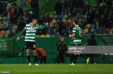 Bas Dost bisou em nova vitória do Sporting. GettyImages