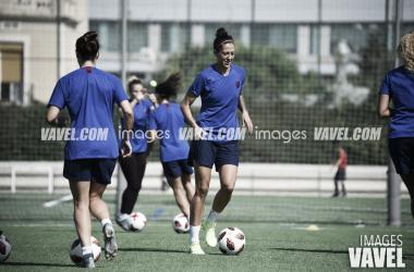 Jenni Hermoso entrenando en la Ciudad Deportiva: FOTO. Noelia Déniz.