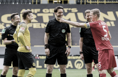 "<span style=""font-size: 11px;"">En un encuentro altamente futbolístico, las rivalidades se disolvieron para abrirle paso a la nostalgia | Foto: @BVB</span>"