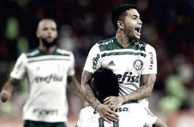 Dudu comemorando seu gol (Foto: Cesar Greco/Divulgação/Ag Palmeiras)
