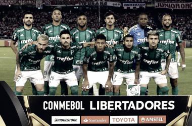 Tiime do Palmeiras que estreou na competição em Barranquilla na Colômbia (Foto: Cesar Greco/Agência Palmeiras)