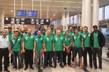 فريق الحكمة في مطار بيروت قبل مغادرته إلى الكويت