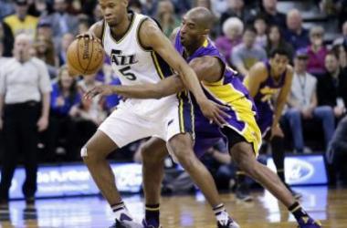 Rodney Hood has career night to spoil Kobe's last trip to Salt Lake City. (AP Photo / Rick Bowmer)