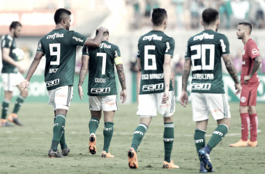 Dudu não comemorou o gol por estar decepcionado com a cobrança da torcida (Foto: Cesar Greco/Ag Palmeiras/Divulgação)