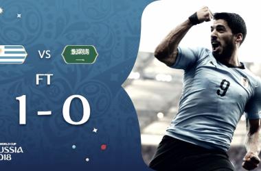 l'esultanza di suarez che trascina l'uruguay agli ottavi (fonte foto twitter fifa world cup)