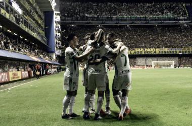 Verdão bateu o Boca Juniors pela Copa Libertadores 2018 jogando na La Bombonera (Foto: Cesar Greco/Ag Palmeiras/Divulgação)
