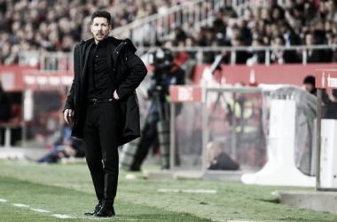 Simeone, contento y con su victoria 250 en el bolsillo. Foto: Atlético de Madrid