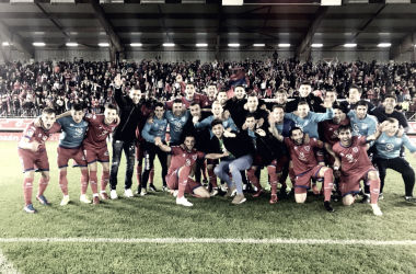 'Losrojillos' son, junto al Sporting de Gijón, el equipo que más puntos consiguejugando en casa.  Foto: CD Numancia.