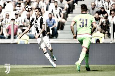 Mario Mandzukic ha segnato due gol al Crotone la scorsa stagione. Foto: Twitter JuventusFC