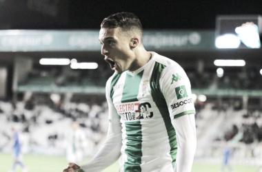 Celebración del primer gol del encuentro | Fotografía: Córdoba CF