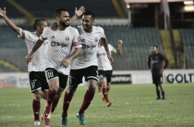La celebración del gol de Jesús González ! Foto: Prensa Deportivo Lara