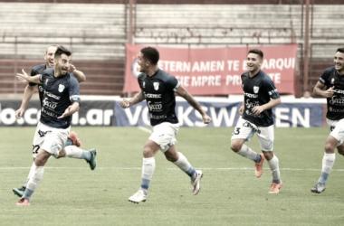 Juan Ignacio Sánchez Sotelo en pleno festejo de gol (Foto: Web).