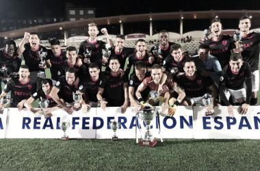 Celebración tras ganar la Copa Federación | Fotografía: CD Lealtad