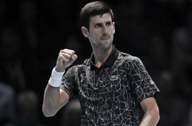 Djokovic celebrando uno de los puntos del partido. Foto: ATP