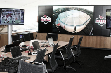 Arizona Cardinals war room during the 2014 NFL Draft. |Via azcardinals.com|