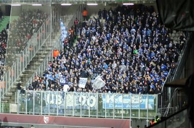 600 supporters strasbourgeois ont fait le déplacement en Moselle (source : RC Strasbourg Alsace)