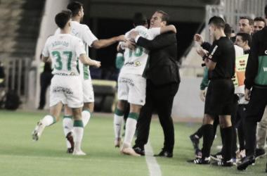 Celebración del primer gol del partido | Fotografía: Córdoba CF