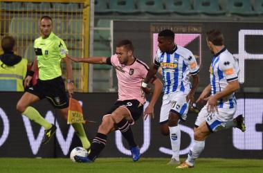 Serie B - Il Palermo batte il Pescara e vola in vetta: 3-0 al Barbera