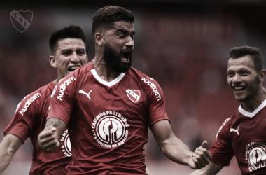 Emanuel Britez se reivindica y marca el gol.FOTO: Prensa Independiente