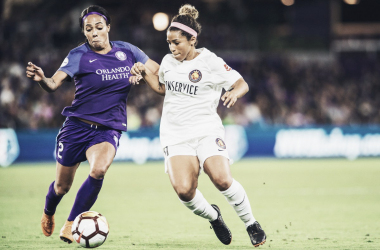 Desiee Scott and company kept a close eye on Sydney Leroux | Source: nwslsoccer.com