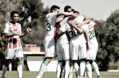 Jugadores de Necaxa Sub-17 festejan el gol / Foto: Twitter Necaxa FB