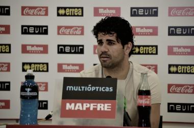Diego Costa durante una rueda de prensa | Fotografía: Mario Cortijo