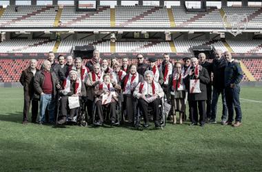 Los veteranos del Rayo visitan el Estadio de Vallecas