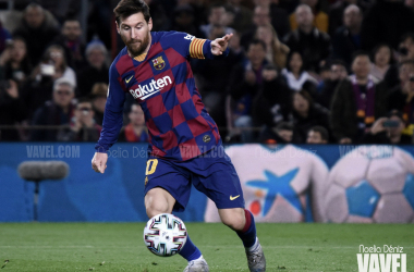 Messi decide de penalti ante la Real