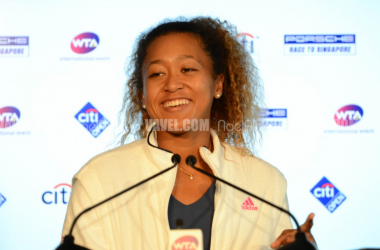 Osaka showed off that famous smile of hers at her opening press conference (Noel Alberto/VAVEL USA)