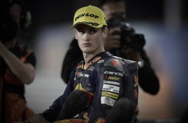 Jaume Masiá, atendiendo a los medios tras la Q2. Imagen: MotoGP