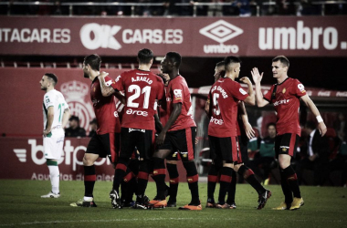 Celebración del segundo gol del encuentro | Fotografía: RCD Mallorca