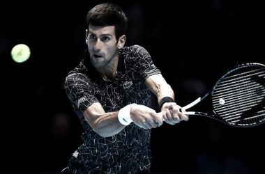 Djokovic durante la final ante Zverev. Foto: ATP