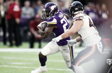 Latavius Murray corriendo a zona de anotación/ Foto: Vikings