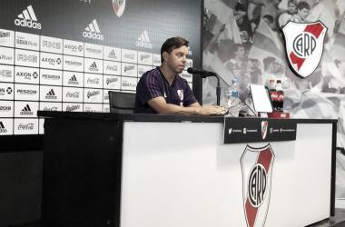 Gallardo en la sala de prensa (Foto: CARP Oficial).