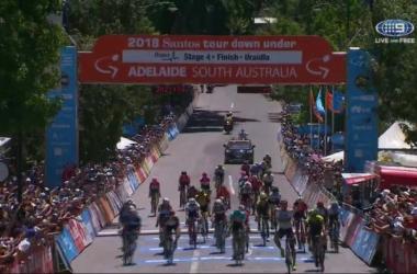 Ciclismo, Tour Down Under: tappa e maglia per Sagan | Screenshot