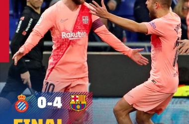 Liga Spagnola- Il derby di Catalogna premia il Barcellona. 4-0 all'Espanyol