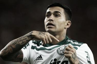 Dudu comemorando um gol com a camisa palmeirense (Foto: Cesar Greco/Divulgação/SE Palmeiras)
