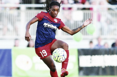Crystal Dunn for the Washington Spirit. | Source: Chris Real
