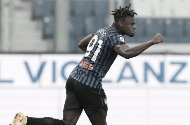 Duván Zapata anotó gol con el Atalanta en el partido contra Sampdoria