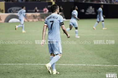 David Villa captains New York City FC during a match | Source: Anabelle Madho - VAVEL USA