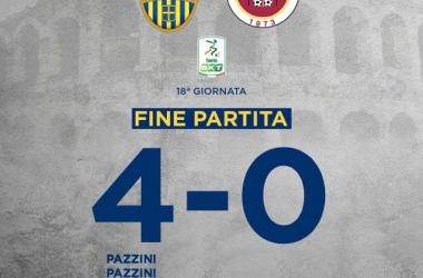 Serie B - Tris di Pazzini e gol di Tupta: l'Hellas batte 4-0 il Cittadella nel Derby