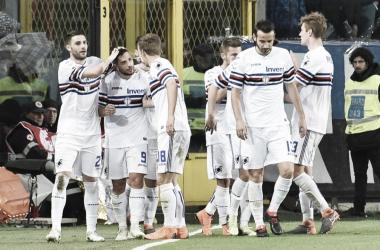 Equipe de Gênova segue na perseguição para o vaga na Europa League (Foto: Divulgação/UC Sampdoria)