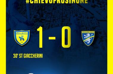 Serie A- Il Chievo batte il Frosinone e spera ancora. Ciociari battuti 1-0