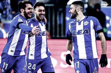 Tres de los máximos goleadores del Deportivo Alavés: Ibai, Munir y Pedraza. Fuente: deportivoalaves.com
